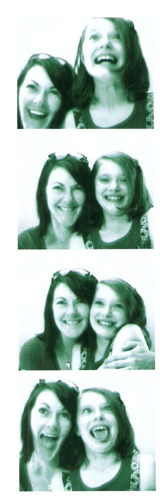 Me and Olivia at the photo booth